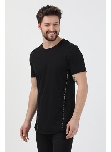 XHAN Hardal Yanı Baskılı T-Shirt 1Kxe1-44621-37 Siyah